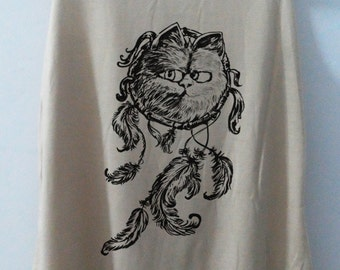 Cat Dream Catcher Cat Shirt Cat Karfield Tshirt Animal Shirt tshirt Women Shirt Tank Top Women T-Shirt Tunic Top Vest Size S,M,L