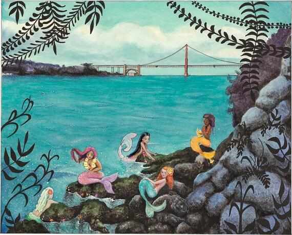 Mermaid Lagoon SF Art Print 11x14 San Francisco Neverland