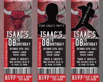 Custom Bulls Birthday/Event Invitation!