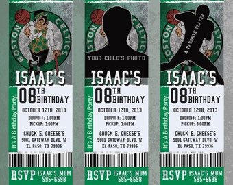 Custom Celtics Birthday/Event Invitation!