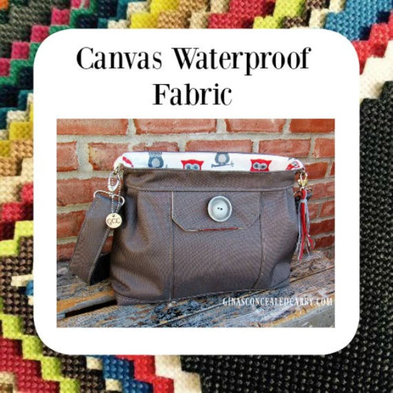 Concealed Carry Purse in Waterproof Canvas-Choose Your Color and Lining,  Made in MO  USA