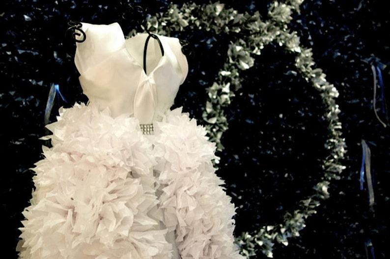 2ft Bridal Dress Replica Puffscape Centerpiece Tissue Paper Etsy