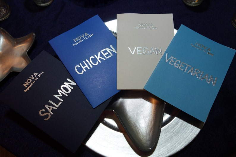 MENU CARDS Personalized Custom  Names Numbers Special image 0