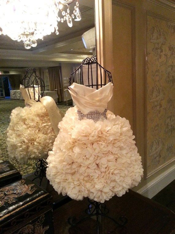 2ft Puffscape Wedding Gown Replica Puffscape Centerpiece Etsy
