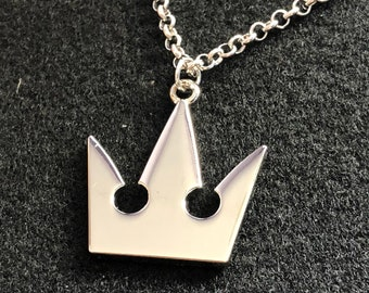 Roxas necklace etsy kingdom hearts necklace sora necklace crown necklace sora kh cosplay chain roxas keyblade anime pendant kingdom hearts gift aloadofball Gallery