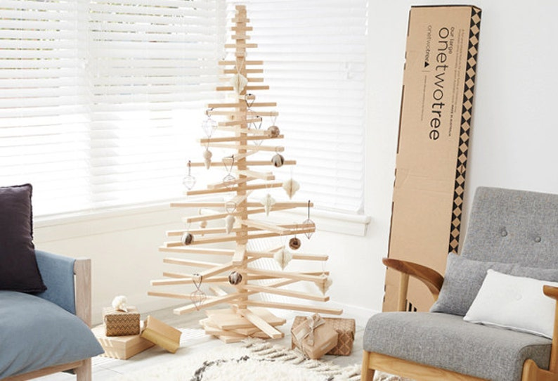 Wooden Christmas Tree Eco Friendly and Modern Christmas Tree image 1