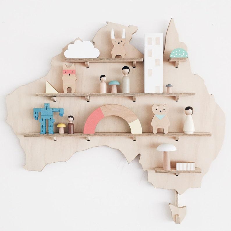 Australia My Treasure Board Kids Decor Shelves Wall Etsy