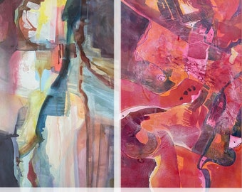 Abstract Expressionist Watercolors by Gloria D Lee