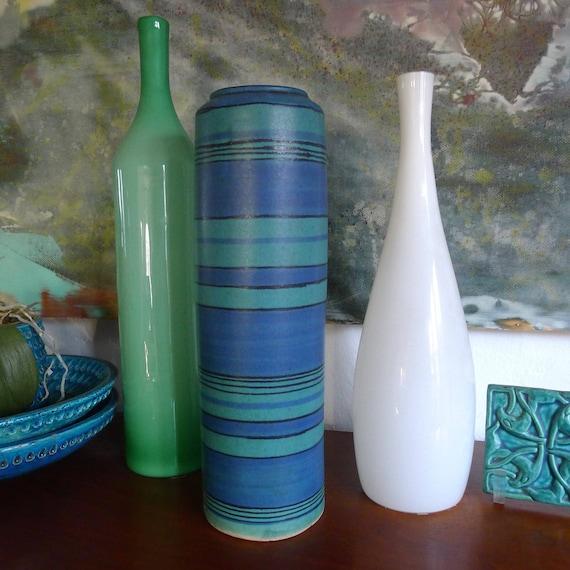 Glidden Mid Century Modern Vase Gulfstream Pattern Designed Etsy