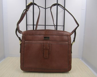 db2c8b49b2 Cornell golden brown vintage croc embossed faux leather bag