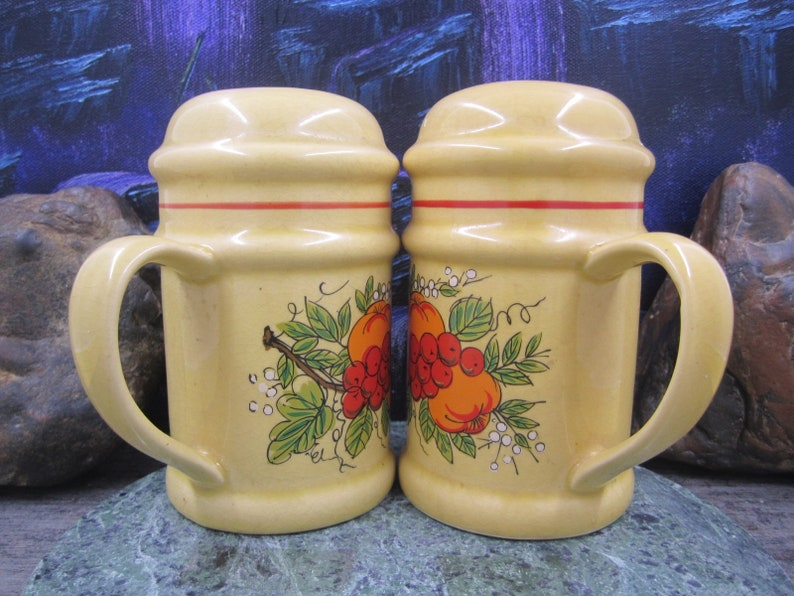 Large country style  salt and pepper shakers