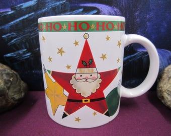 Santa Ho Ho Ho Vintage Christmas  Mug - Signature Housewares 1994 limited edition