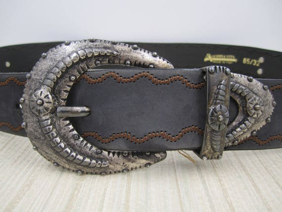 44b9165fc8b9 Doppia Vita cuir ceinture Made In Italy avec magnifiques   Etsy