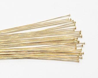 25 500pcs 2183 14Kt Gold filled 26gauge 2inch Head Pins 30/% OFF NEW /& IMPROVED