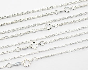 18 Silver chain for pendant 16 or 24 inches heavyweight 1.8mm diamond cut sterling silver cable 20 silver layering jewelry SS-DC-chain
