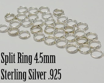 Sterling Silver Split Ring ,5mm, Sold in packs of 20, Bulk Savings Available!!!