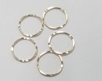 Gold FIlled Link, Closed Hammered 15mm, 18 Gauge, Made in the USA, Bulk Savings Available!!!
