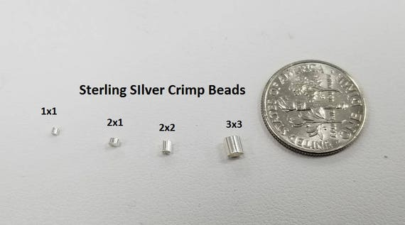 pack Of 20 Made In USA Sterling Silver Crimp Bead 3 x 3 MM