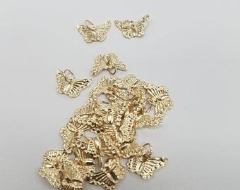 14k Gold Filled Charm, Butterfly, 7.5mm x 12mm, USA, Lightweight