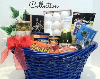 Fathers Day Gift Birthday Golf Basket Gourmet