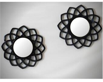 Decorative Mirror 2 Piece Set Gold, Sliver, Black, Modern Stylish Small Wall Mirror, Wall Decor, Round Wall Mirror