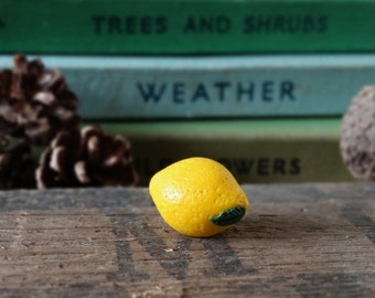 Gardening Tie Pin By the Shed Lemon Yellow Pin Badge Quirky Summer Citrus Allotment Lapel Badge Garden Gift Fruit Vegetable