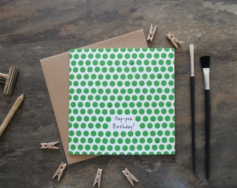 By the Shed - Birthday Greetings Card - Happy PEA POD - Peas, Hap-PEA, Green, Pea - Celebrate, B'day