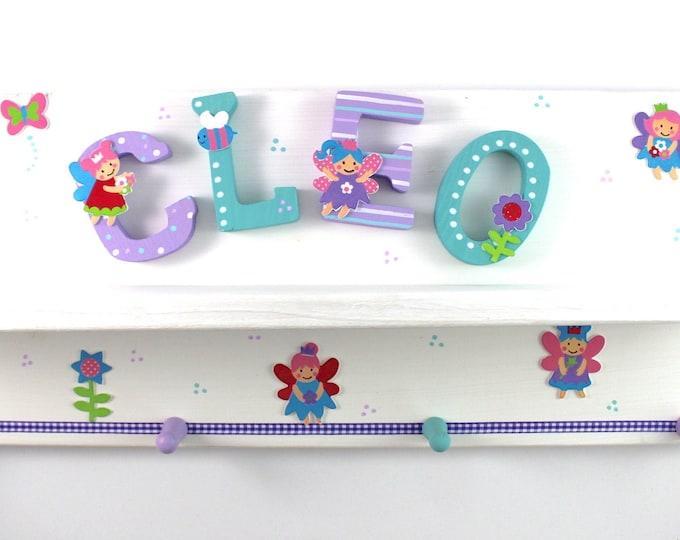 Wardrobe, children's wardrobe with storage board - elves, fairies