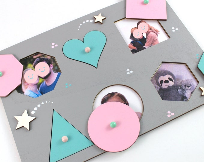 Plug-in puzzle with family photos