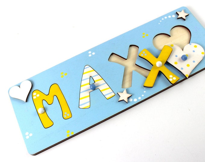 Puzzle Name Plug Puzzle Baby Name Puzzle Wooden Puzzle
