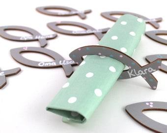 napkin rings, communion, baptism, individual napkin rings, with name, napkin holder