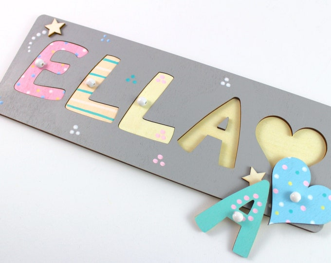 Name Puzzle Baby Puzzle Name Plug-in Puzzle