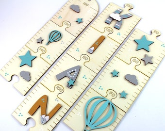 Measuring rod children wood personalized