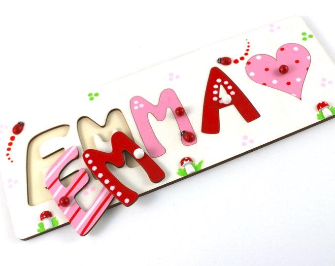 Puzzle Name, Plug Puzzle, Puzzle Baby, Baptism Gift, Gift with Name, Name Puzzle, Wooden Puzzle