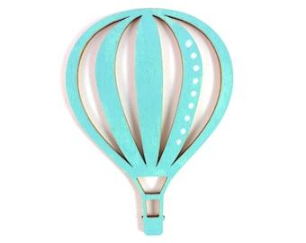 Wooden motif hot air balloon