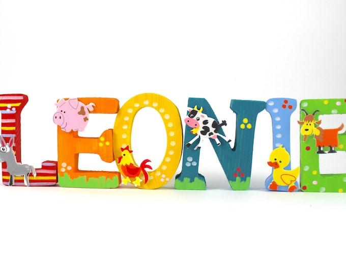Wooden letters, door letters, nursery letters