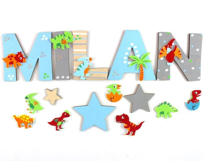 Wooden letters children's room door names