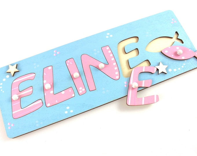Christening Gift Name Puzzle Wooden Puzzle Baby