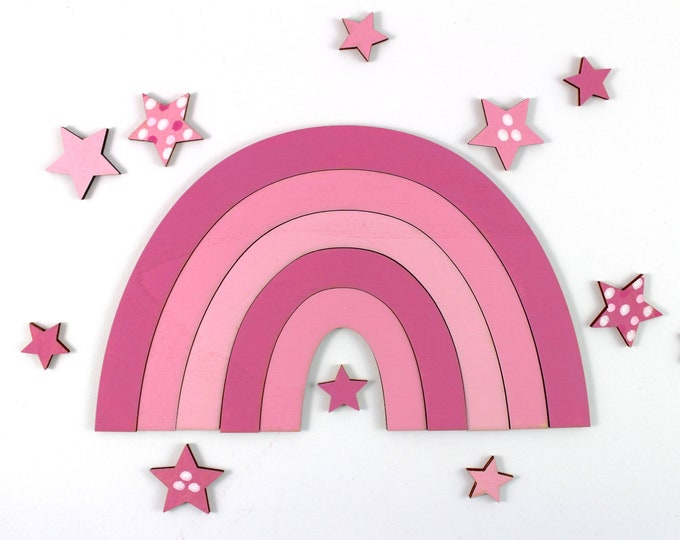 Rainbow, available in 2 sizes, Rainbow, pastel, baby, baby party, wooden rainbow, nursery décor, wooden letters