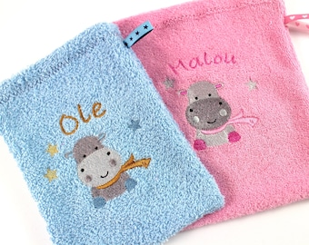 Washcloth baby with name