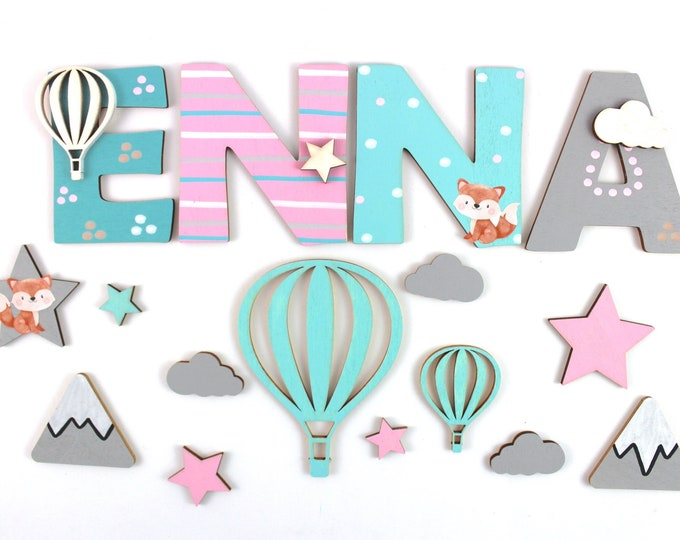 Wooden Letters Nursery Door Baby Girl