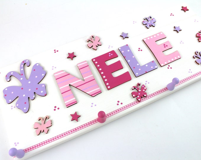 Children's wardrobe personalized with name