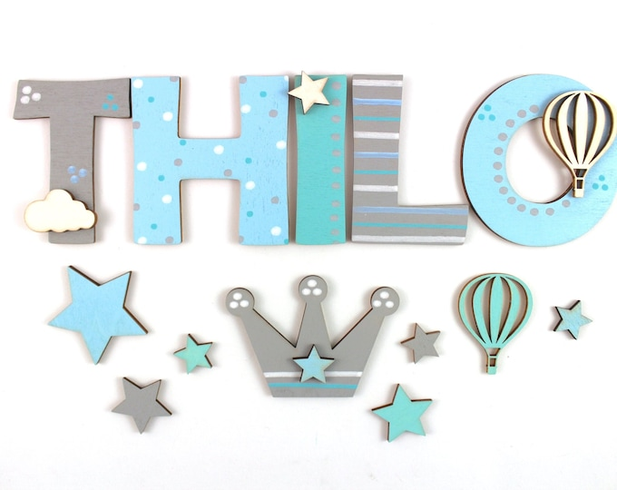 Wooden letters children's room door name