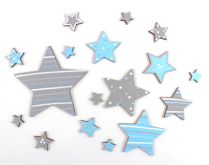 Wooden stars, star cutouts, stars, wooden shape