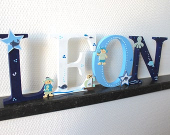 Wooden Letter xxl 15 cm, large Türbuchstaben, also suitable for place-pirates, Maritim