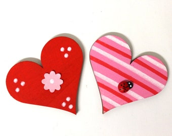 2 Hearts 6 cm matching to wooden letters
