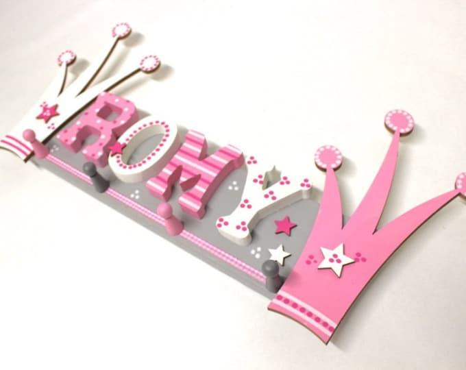 Children's wardrobe, wardrobe, favorite shops, individual children's wardrobe-crowns, princess, Pink