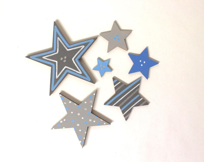 Large star set (6 pieces) matching wooden letters