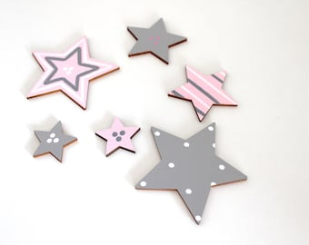 Large star set, matching wooden letters