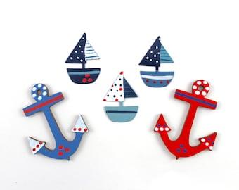 Motiveset Sailing Boats Anchor/Maritim